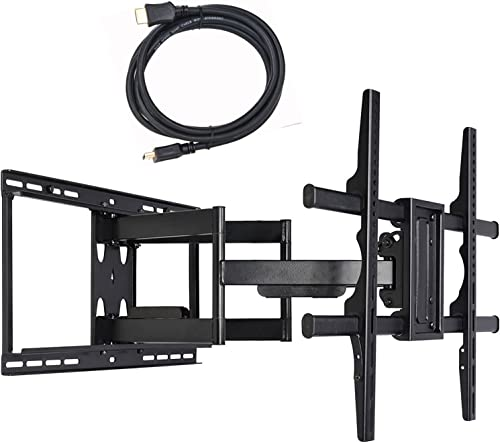 VideoSecu Full Motion Swivel TV Wall Mount Bracket for Samsung 75 UN75JU7100FXZA QN75Q9FAMFXZA UN75MU9000FXZA UN75KS9000FXZA UN75MU8000FXZA 82 UN82MU8000FXZA LED UHD QLED TV C8F