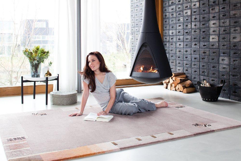 teppichwelt sona lux nepal teppich handgekn pft mauve. Black Bedroom Furniture Sets. Home Design Ideas