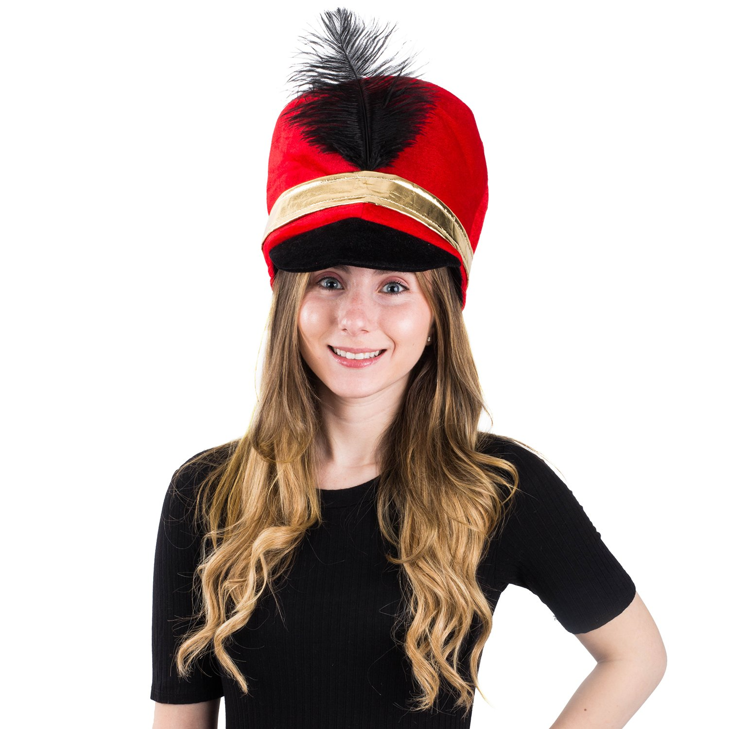 6f754ad42a4ae Amazon.com  Tigerdoe Toy Soldier Hat - Drum Major Hat - Soldier Hat - Marching  Band Hat - Nutcracker Hat - Toy Soldier Costume  Clothing