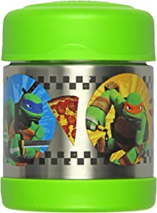 Thermos Vacuum Insulated Funtainer Food Jar, Teenage Mutant Ninja Turtles 10 Ounce, Green