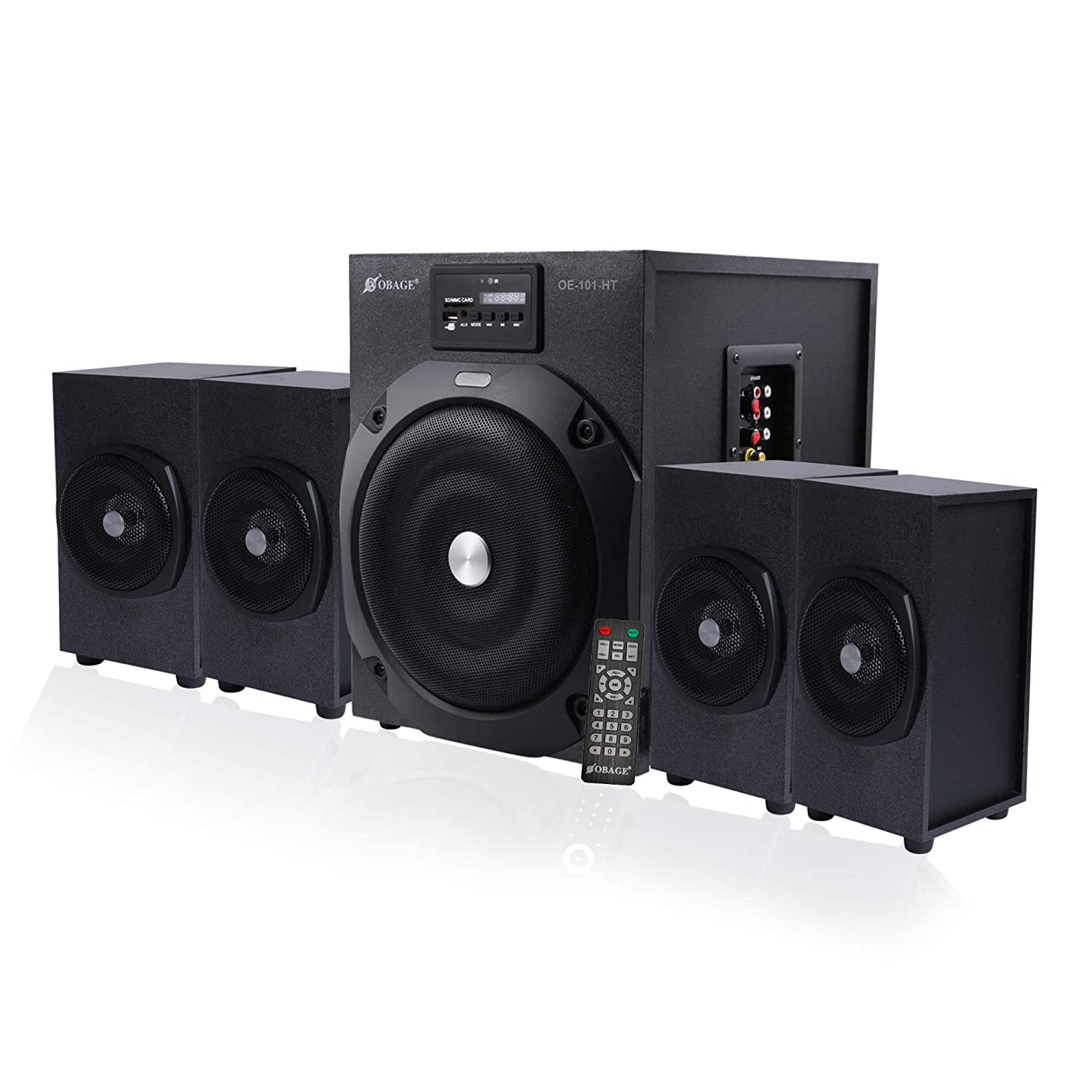 OBAGE Home Theaters 4.1 HT-101 Bluetooth System with Dual AUX,USB,MMC, FM Playback