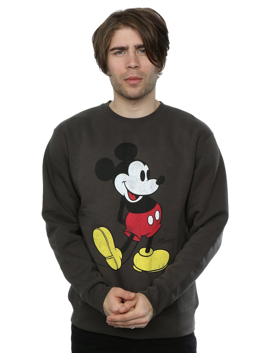 Disney Men's Mickey Mouse Classic Kick Sweatshirt Absolute Cult