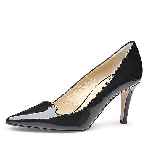 Piel Zapatos Negros Jessica BarnizadoAmazon Shoes Mujer Evita es 5jAR4L3