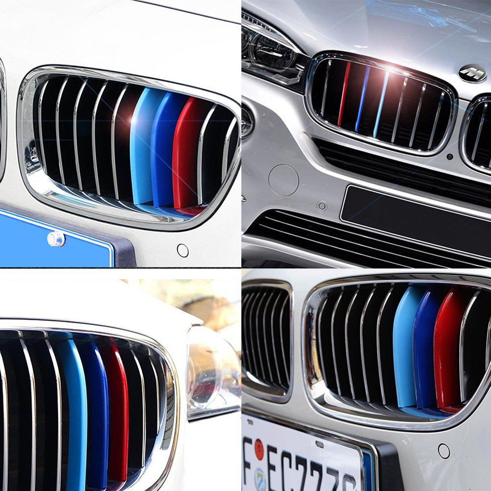 Exact Fit M-Colored Grilled Insert Clip 12 Beams Car Front Grille Trim