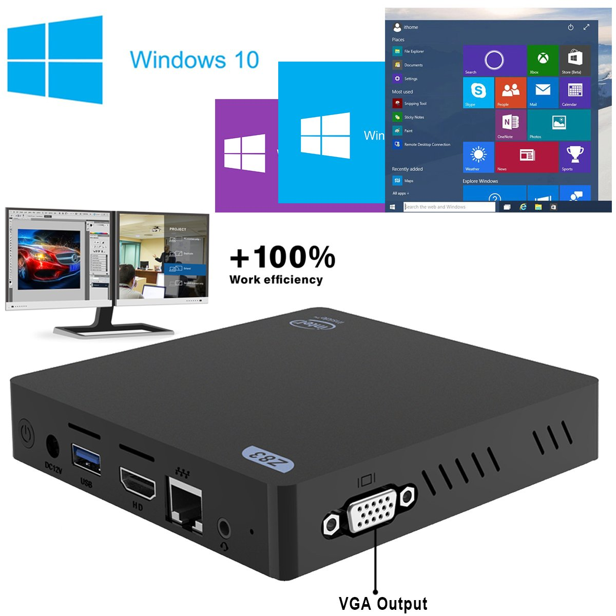 Maxesla mini pc windows 10 et linux