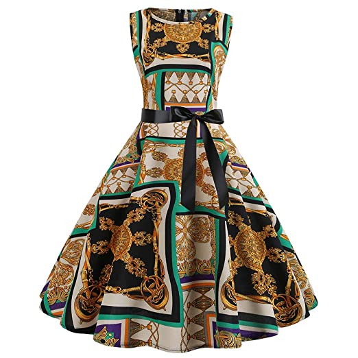 Birdfly Vintage 50\'S Style Palace Print Dresses for Women ...