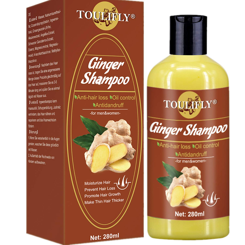 Hair Growth Shampoo,Anti Hair Loss Shampoo,Hair Regrowth Shampoo,Ginger Shampoo,Hair Loss Shampoo for Hair Loss Thinning Hair Regrowth Hair Treatment Women and Men by TOULIFLY