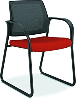 product image for HON Ignition Mesh Back Sled Base Fixed Arms Multi-Purpose Guest Chair, Poppy