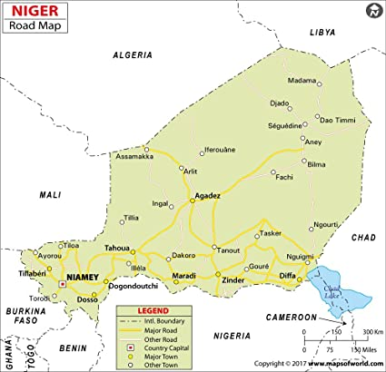 Amazon.com : Niger Highway Map - Laminated (36\