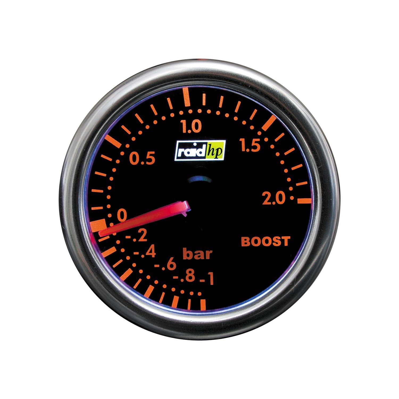 Raid HP 660250 Ladedruckanzeige, Zusatzinstrument Night Flight Rot r.d.i. Deutschland Autoteile + Vertriebs GmbH