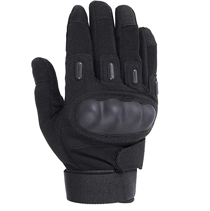 Fuyuanda Tactical Gloves, Men`s Full Finger Gloves Hard Knuckle Protective Gear Gloves for Motorcycle Shooting Riding Cycling Biking Paintball Racing