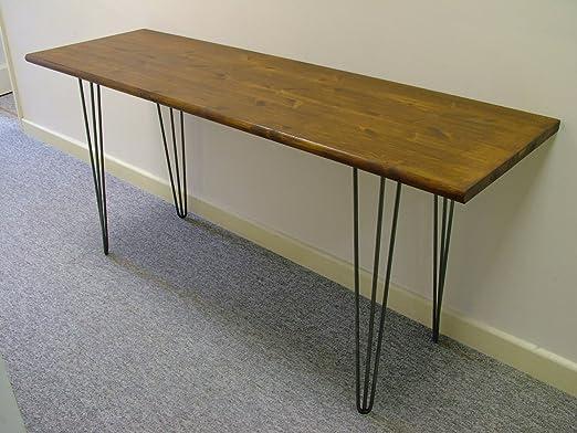 Amortiguador anticaídas diseñado hecha a mano mesa de madera ...