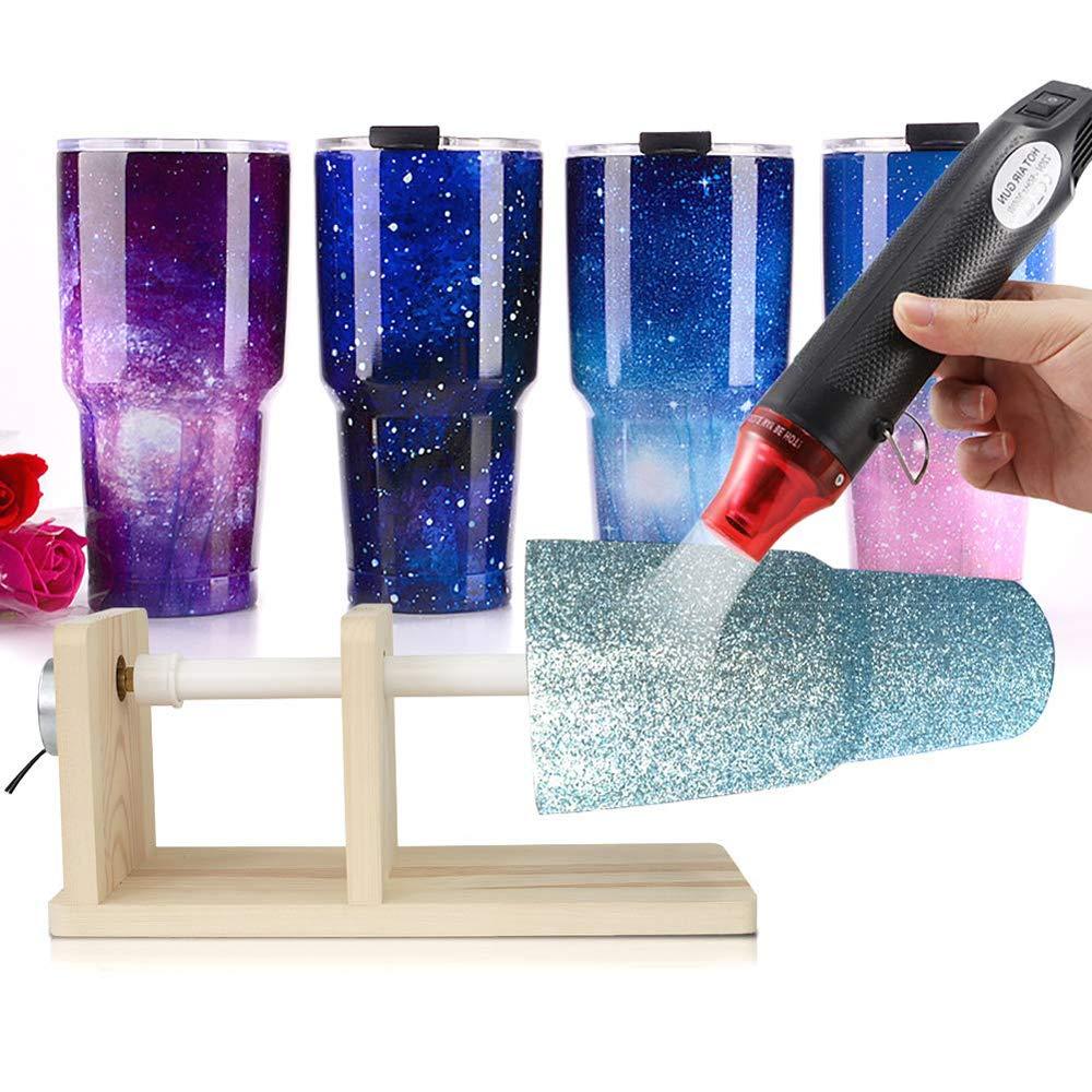 kit appositamente progettato per bicchieri in resina acrilica Nero Pistola termica per rimuovere le bolle d/'aria 2 pennelli magici epossidici per realizzare bicchieri in resina epossidica