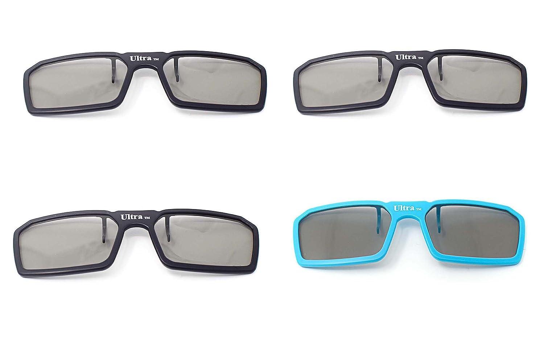 4 pares 3 x negro 1 x Clip estándar nuevo 3D pasivo Universal azul ...