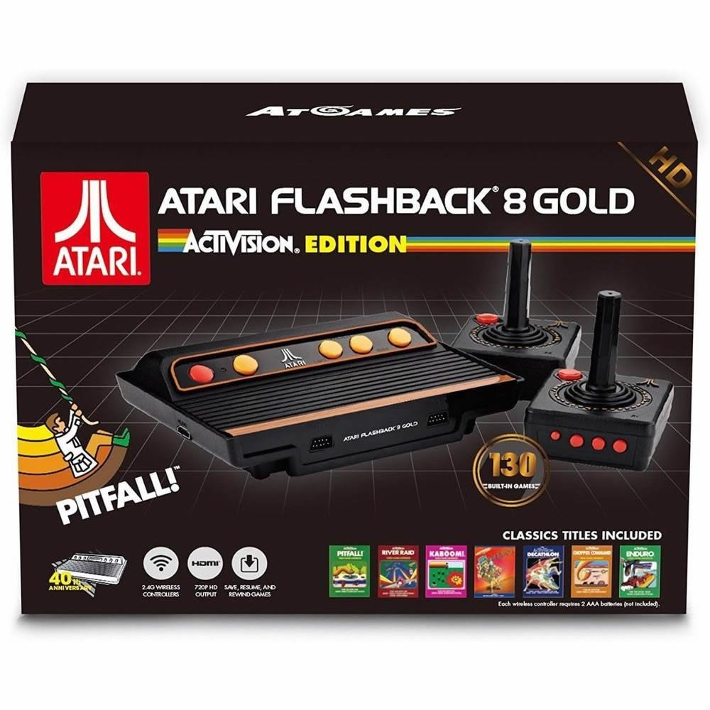 Retro Atari Flashback 8 Gold HD Activision Edition 120 Electronic Games