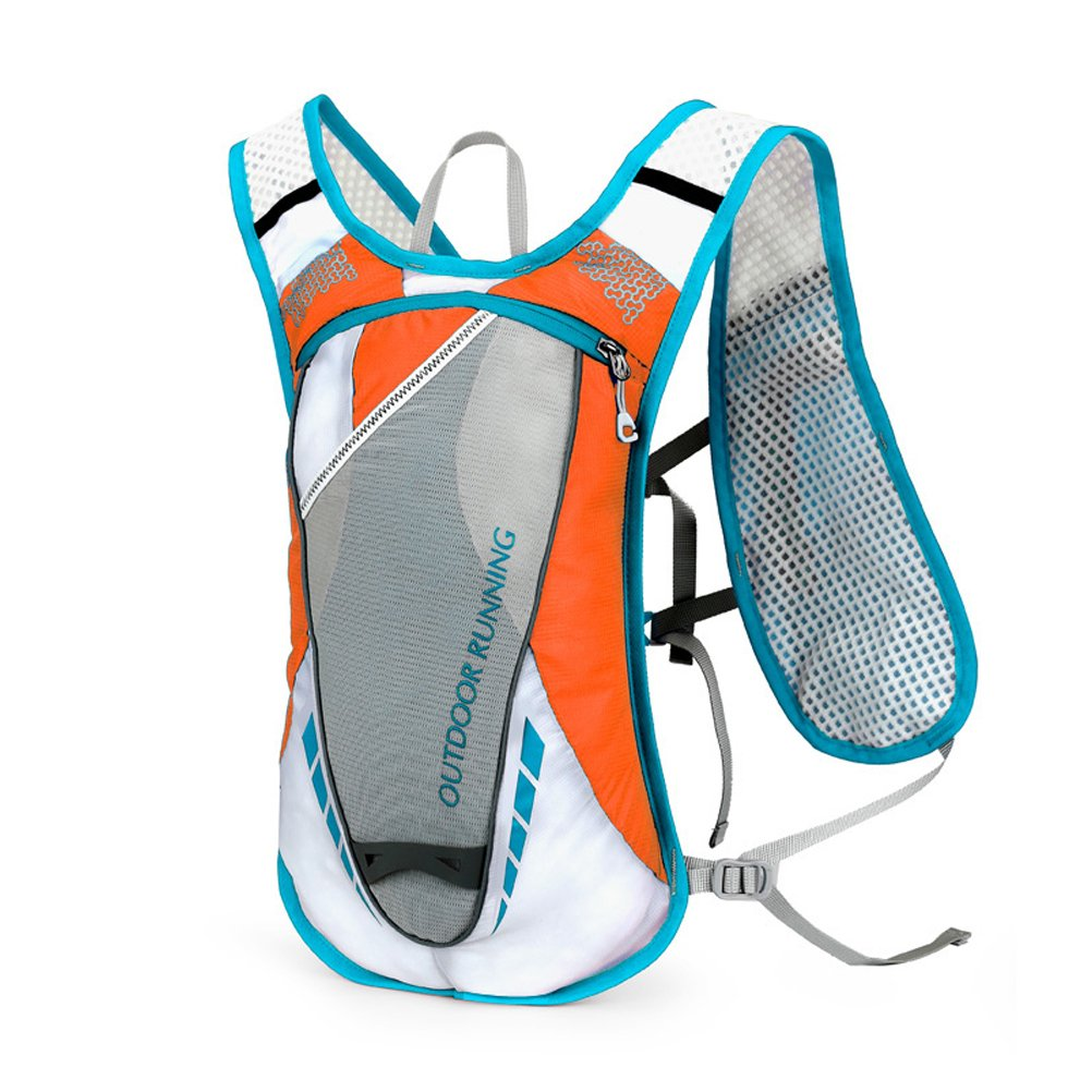 WINOMO Hydration Packバックパック12l Outdoors Mochilas Hydration Vest for Running (オレンジ)   B078ZCTMD4