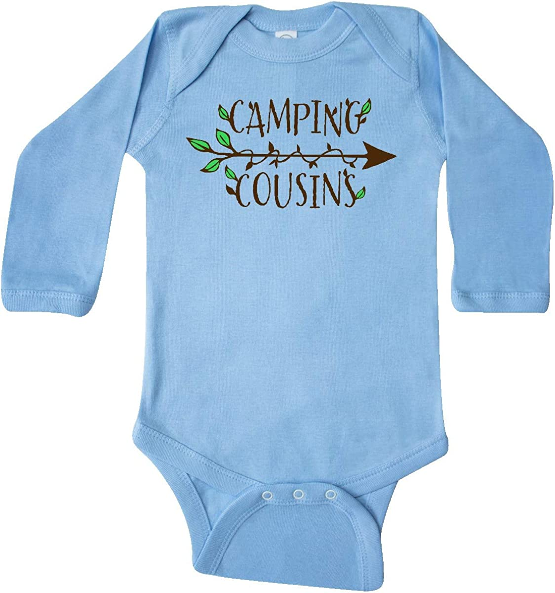 Arrow and Leaves Long Sleeve Creeper inktastic Camping Cousins