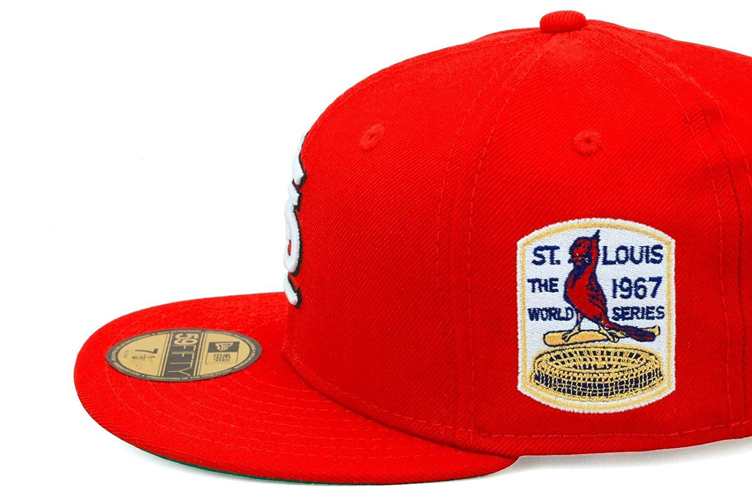 72c471d40 Amazon.com: New Era St. Louis Cardinals Fitted Hat Cap 1967 World Series  Patch: Sports & Outdoors