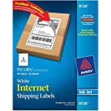 Avery Shipping Labels with TrueBlock Technology, Inkjet Printers, 5.5 x 8.5 Inches, White, Pack of 100 (8126)