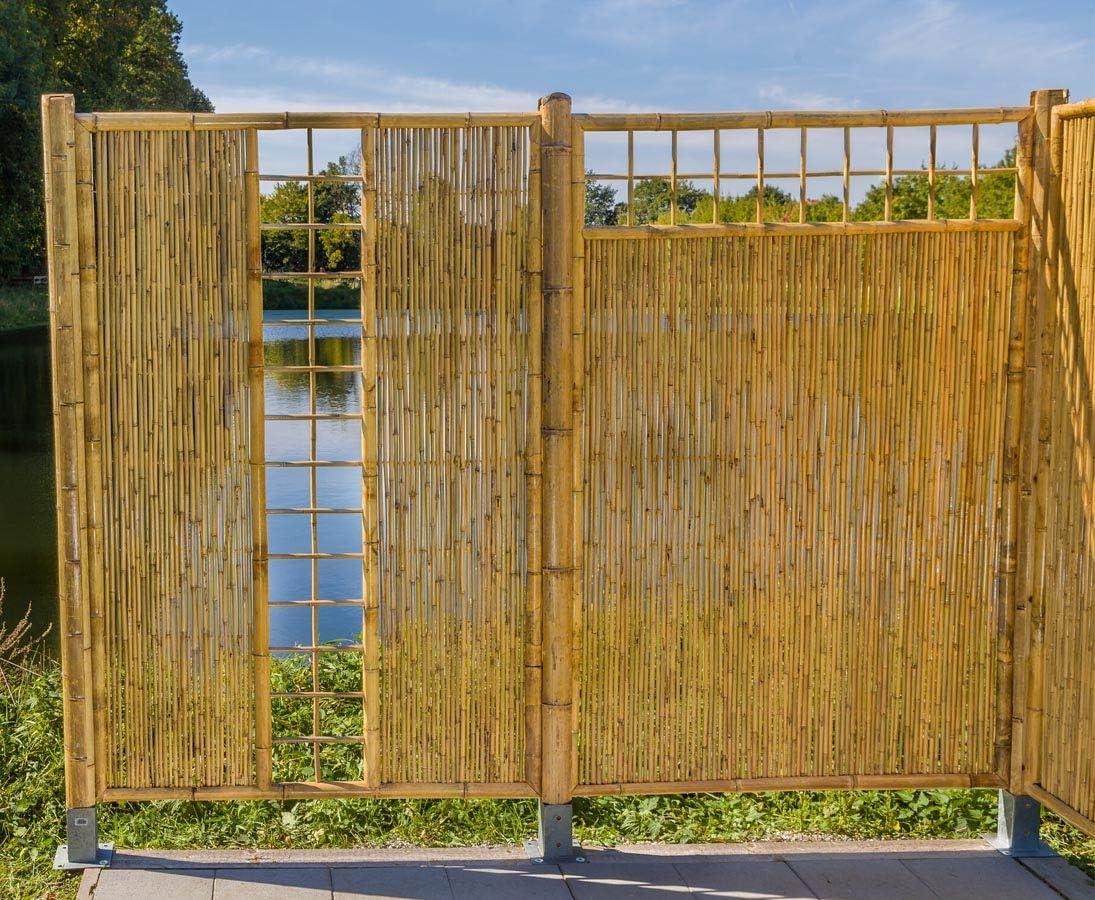 Amazon De Bambus Sichtschutz Mit Gitter Oben Ten New Line Mit 180