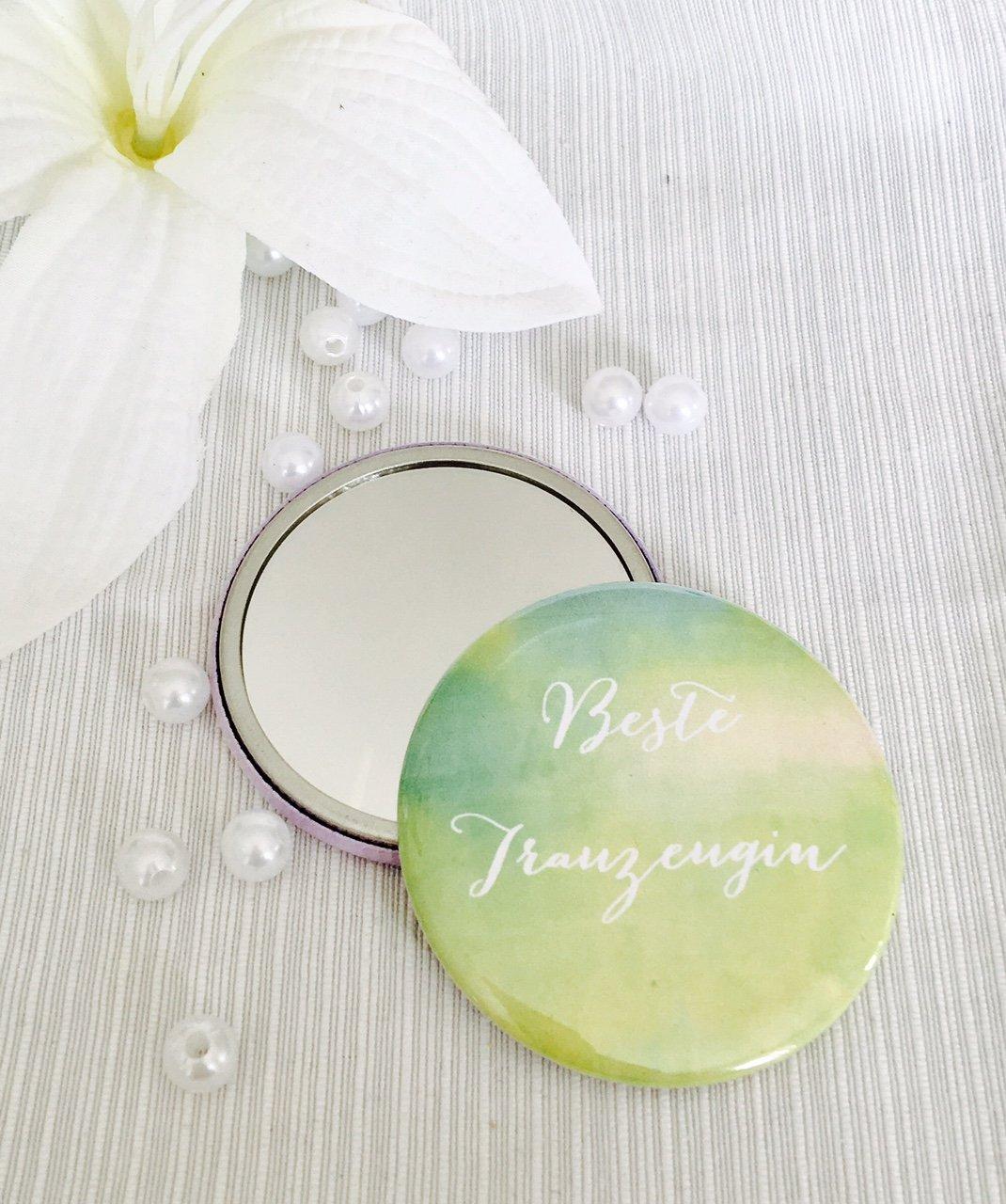 Miroir de poche/-/Inscription en allemand /«/Beste Trauzeugin /»/-/Cadeau de mariage id/éal