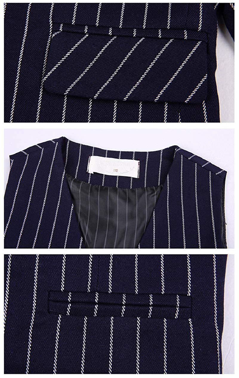 DGMJDFKDRFU Stripe Kids Suits for Boys Slim Fit 3 Piece Wedding Suits Formal Dresswear Set for Boy HTXZ004