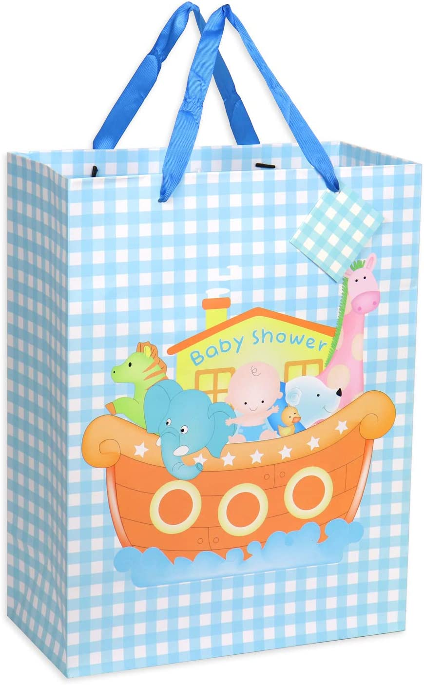 Parties Birthday and Baby Boy Medium and Small Gift Bags Assortment for Baby Shower 12 Pcs Baby Gift Bags Baby Girl Large Assorted Sizes