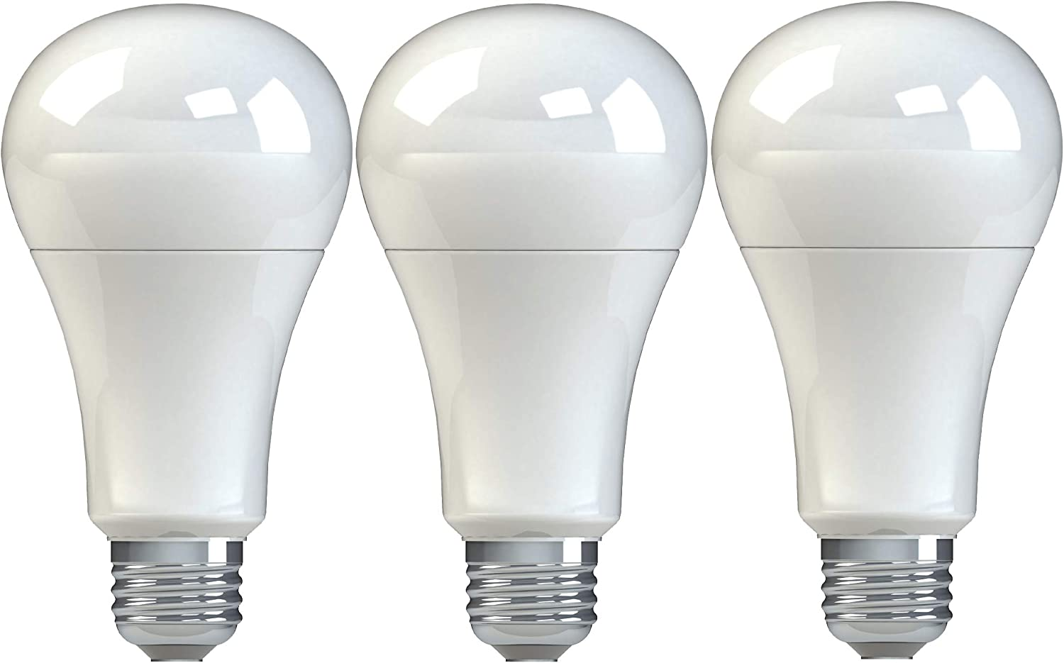 GE Lighting 99198 General Purpose Classic Shape A21 Soft LED 16-Watt (100-Watt Replacement), 1520-Lumen Medium Base, 3-Pack, Frosted White, 3