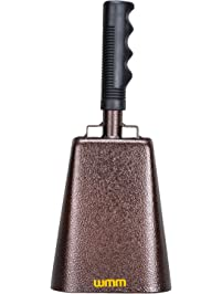 10 inch Steel Cowbell with Handle Cheering Bell for Sports Events Large Solid School Bells & Chimes Percussion Musical...