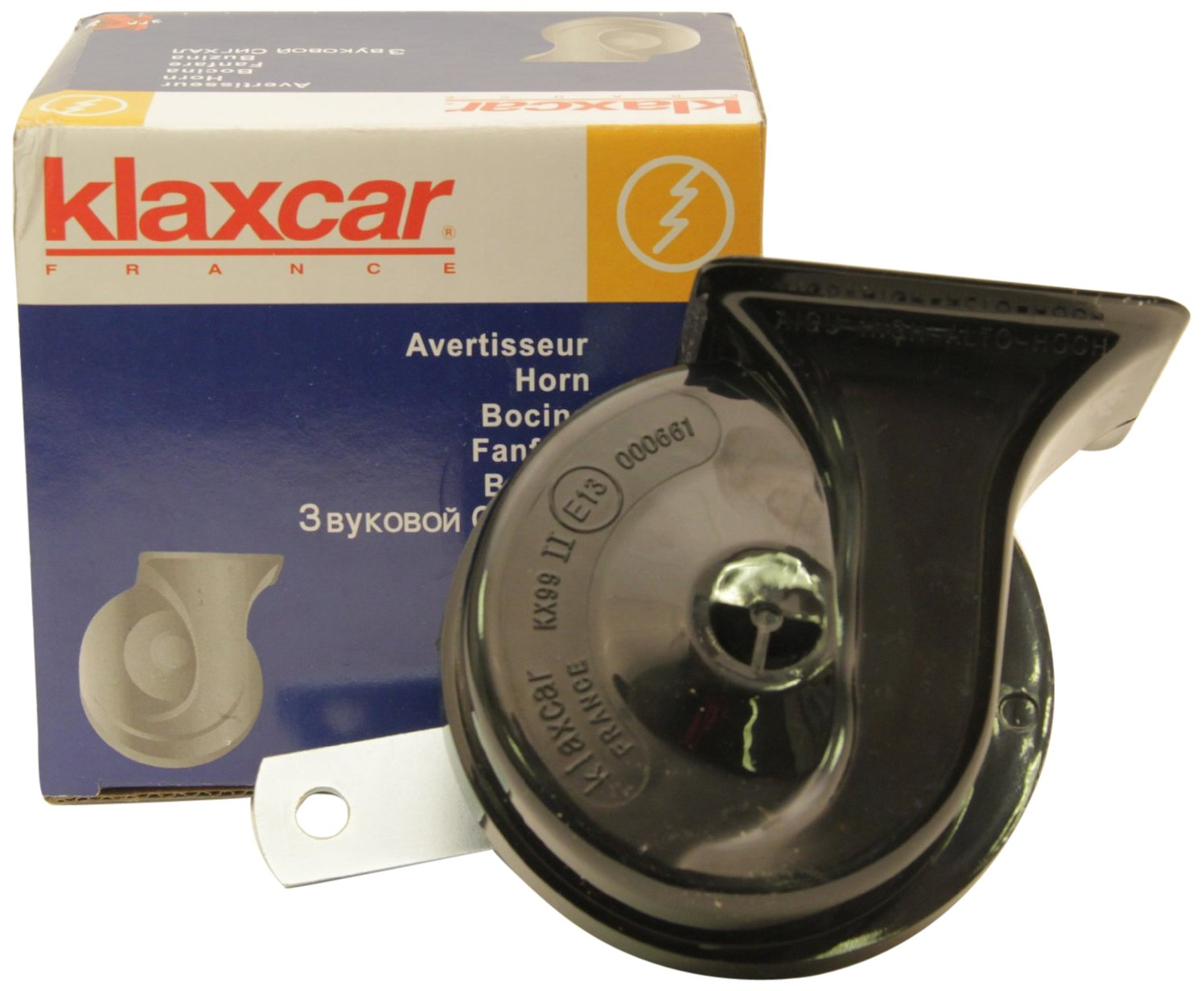 Klaxcar France 81944K - Clacson Black Singolo TR99, 24V, High 2B