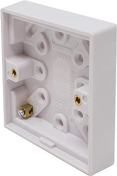 I-CHOOSE LIMITED 1 Pandilla Caja Blanca de 20 mm Eléctrica Pattress: Amazon.es: Electrónica