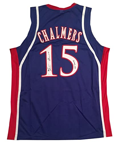 Image Unavailable. Image not available for. Color  Mario Chalmers  Autographed Kansas Signed Basketball Jersey 08 CHAMPS JSA COA 1c719376d