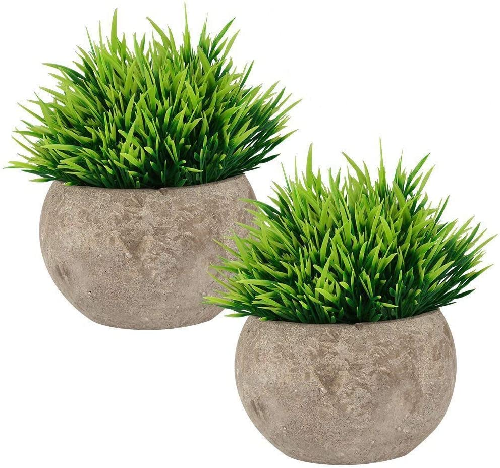 Wansang Fake Plant For Bathroom Home Decor Small Artificial Faux Greenery For House Decorations Potted Plants Amazon Ca Home Kitchen
