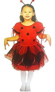 Red and Black Ladybug Princess Girls Costume (Small)