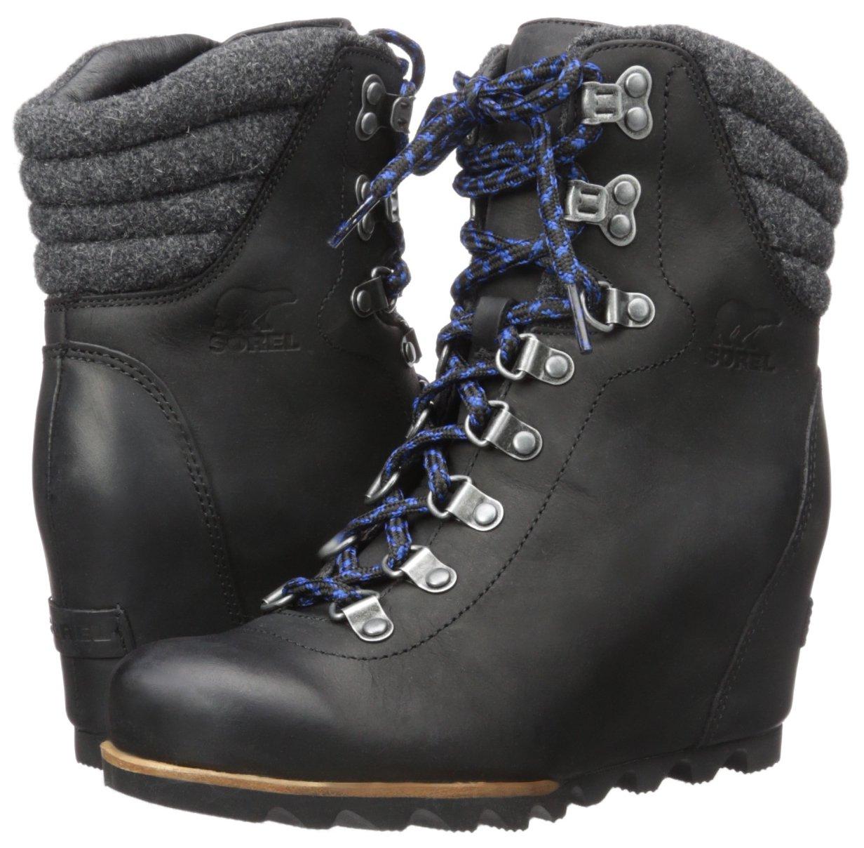 SOREL Women's Conquest Wedge Mid Calf Boot, Black, 11 M US by SOREL (Image #6)