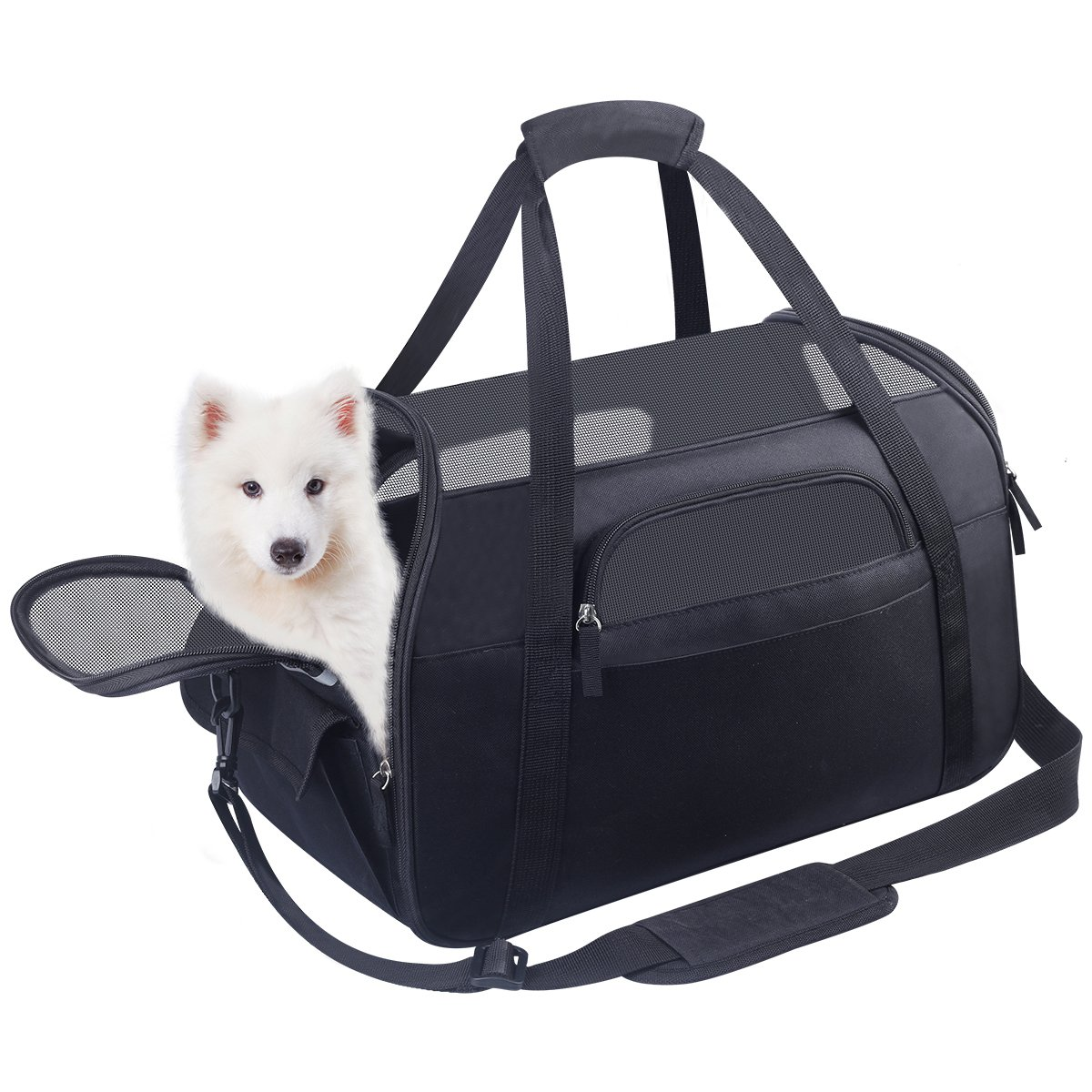 HACHI SHOP Pet Carrier Dog Airline Approved Soft-Sided Portable Travel Bag for Small Dogs Cats Puppies Kittens Rabbits