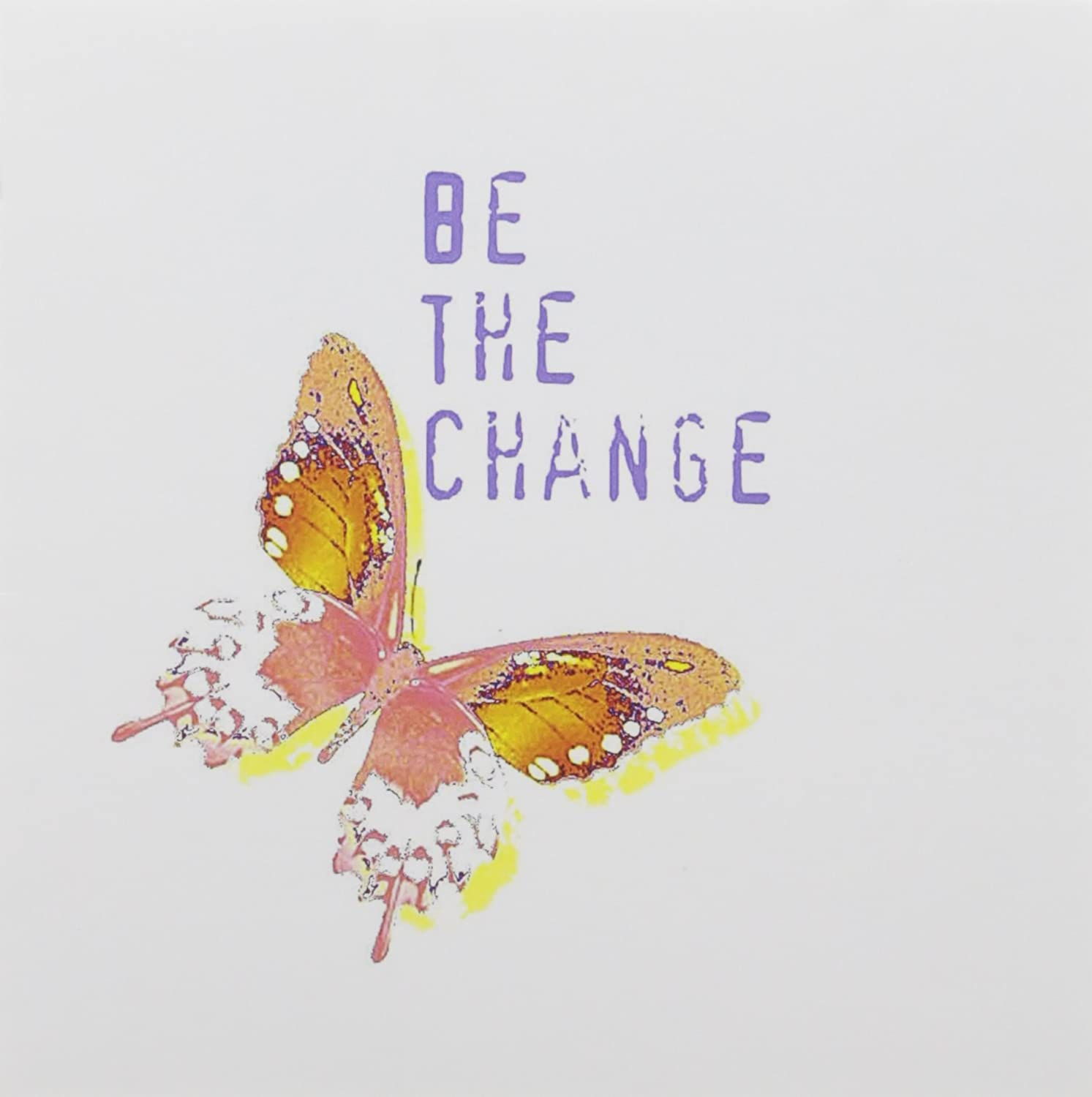 Amazon Com 3drose Be The Change Butterfly Inspirational Quotes Greeting Cards 6 X 6 Inches Set Of 12 Gc 31422 2 Blank Greeting Cards Office Products