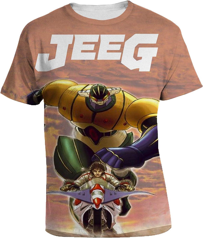 manga anime el vengador T shirt jeeg robot d/'acciaio steel jeeg