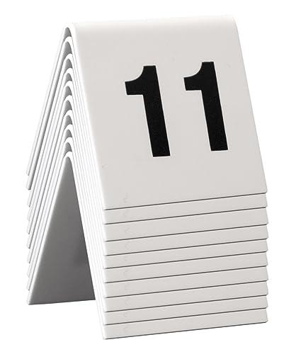 Securit - Mesa de carteles, números 11 - 20, 4 x 4 x 5 cm ...