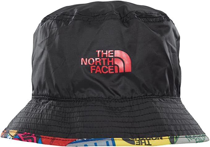 b12243554b5f7 Amazon.com: The North Face Sun Stash Hat TNF Black Sticker Bomb ...