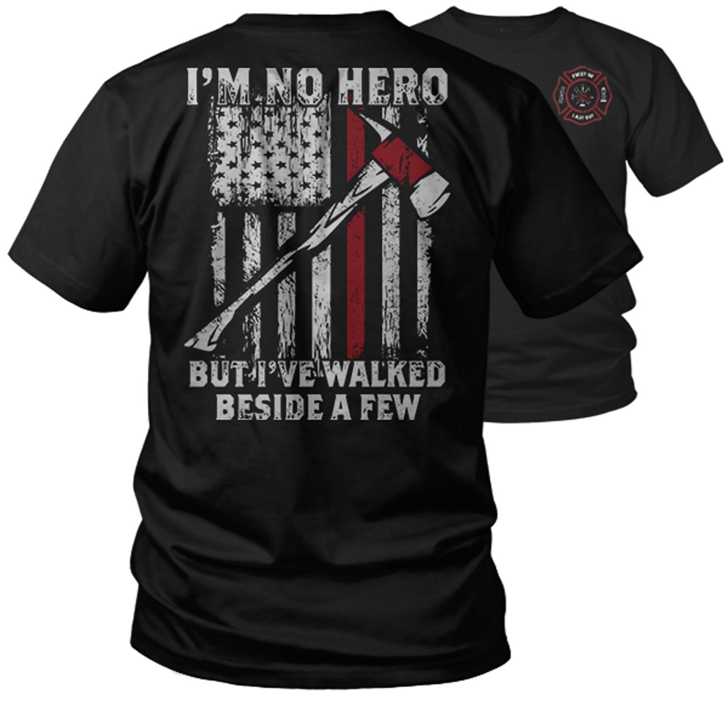 Thin Red Line Hero Fire Fighter Support T Shirt