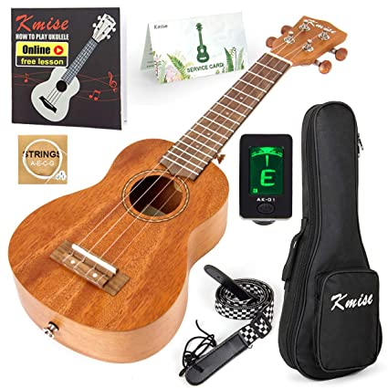 Ukulele Soprano Beginner Mahogany 21 Inch Vintage Hawaiian Ukelele With Uke Starter Pack Kit (Gig Bag Tuner Strap String Instruction Booklet) best ukeleles