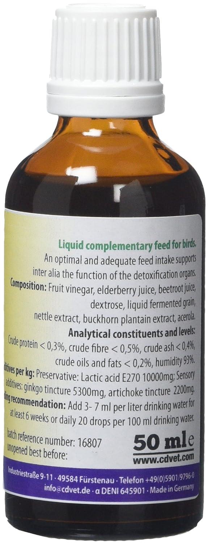 Pet Supplies Cdvet Birdvital Liquid Feed Supplement For Birds 50ml