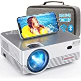 Native 1080P WiFi Bluetooth Projector, DBPOWER 8000L Full HD Outdoor Movie Projector Support iOS/Android & Zoom, Home Theater