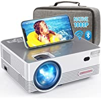 Native 1080P WiFi Bluetooth Projector, DBPOWER 8000L Full HD Outdoor Movie… photo