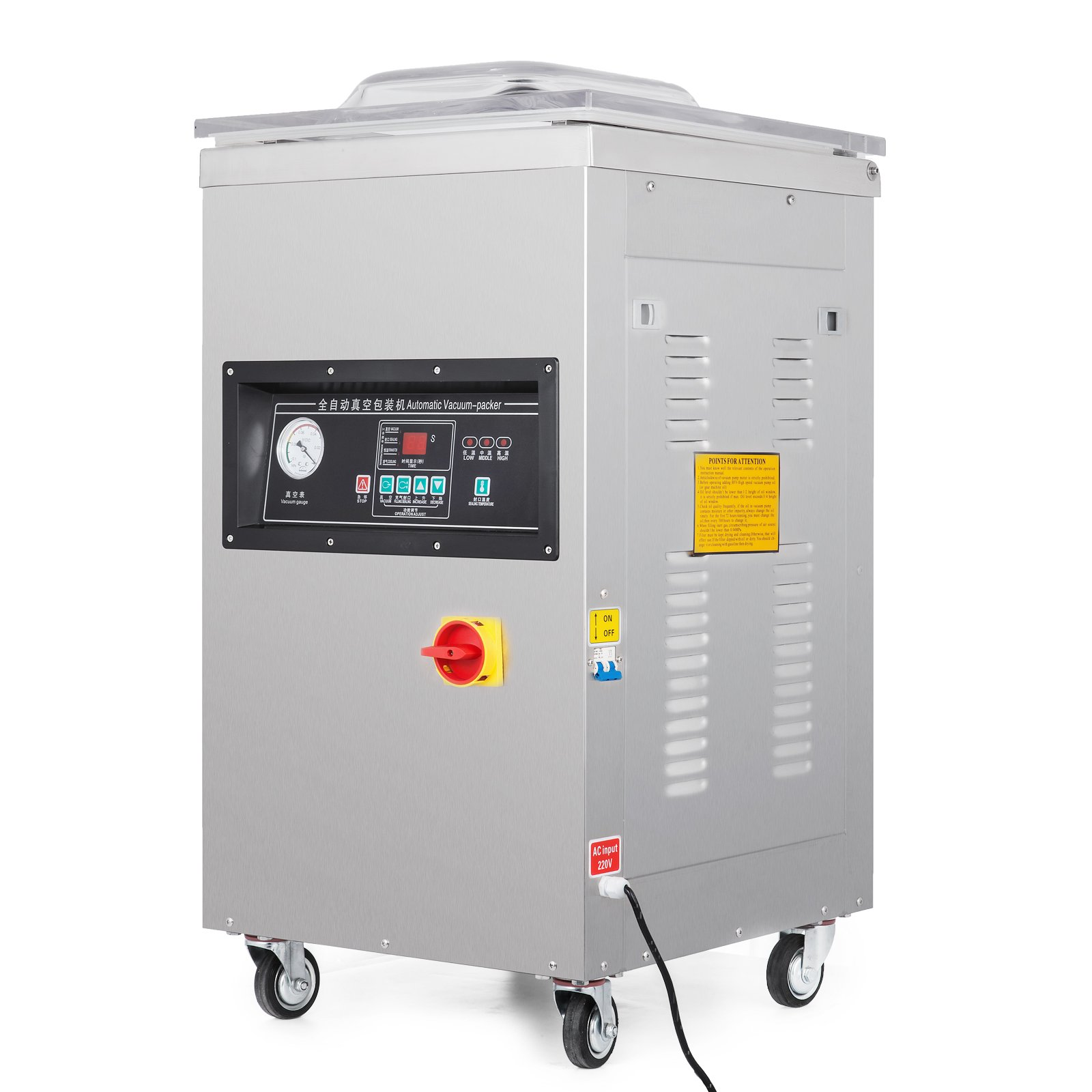 Happybuy DZ-400/2E Chamber Vacuum Sealer 1000W Vacuum Sealer Machine Automatic Vacuum Packing Sealing Sealer Machine for Home or Commercial Use (DZ-400/2E) by Happybuy (Image #3)