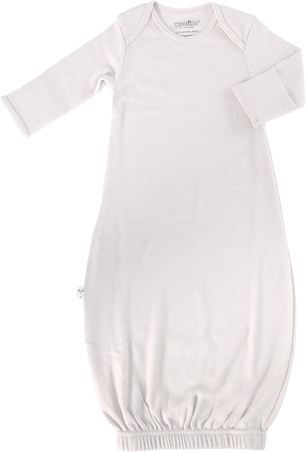 Woolino Baby Infant Gown Superfine Merino Wool 0-6 Months Beige