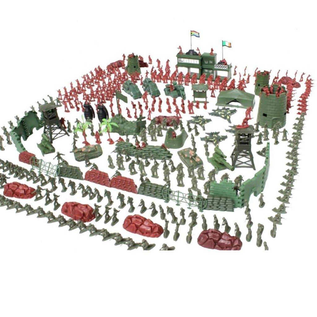 Fenteer Jeu de Simulation--Modèles Militaire Figurine Soldiers Armée - 290 pièces