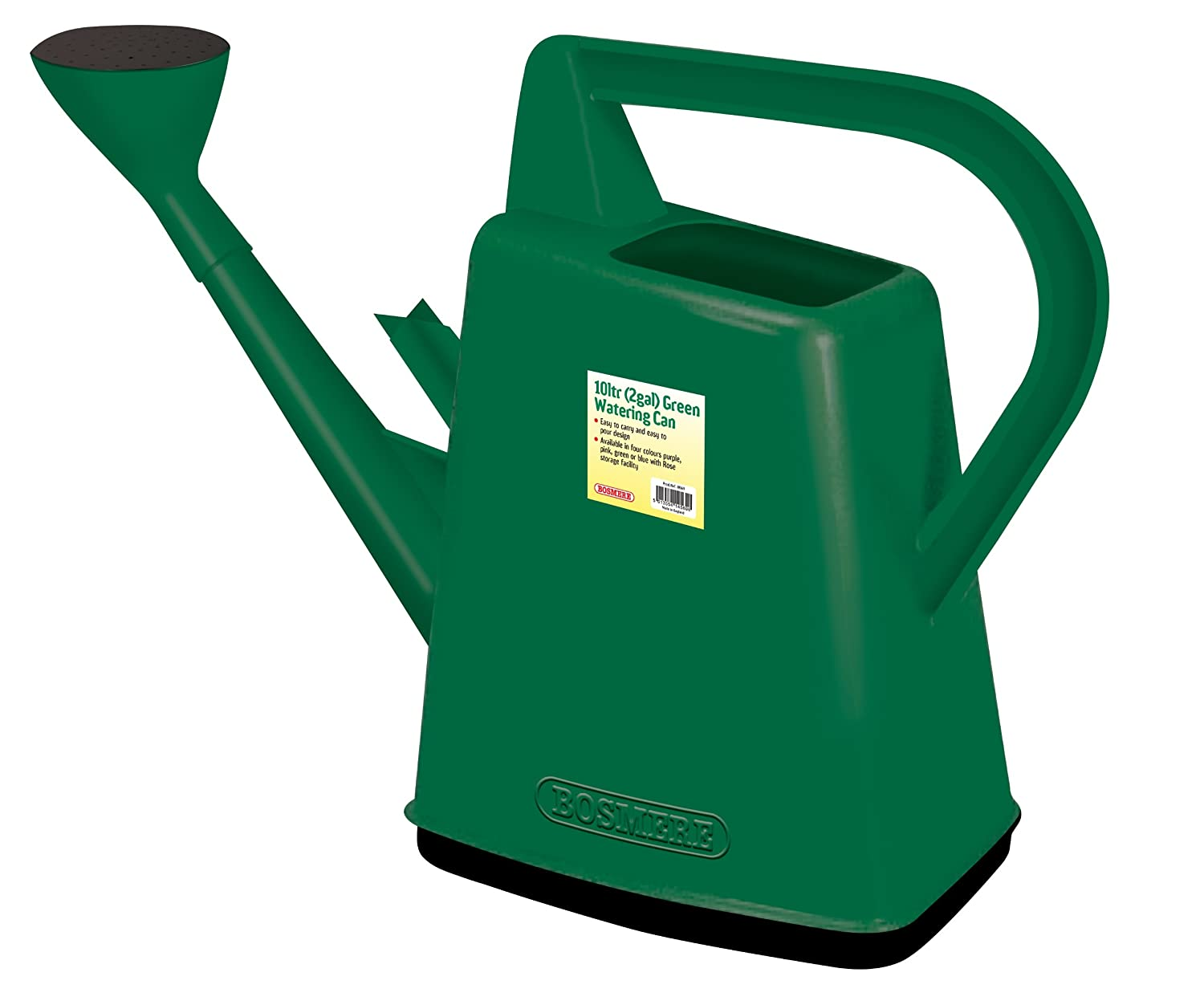 amazoncom bosmere plastic outdoor watering can 26 gallon green garden outdoor - Garden Watering Can