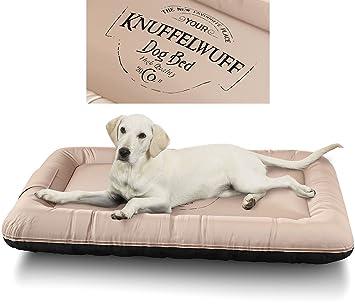 Knuffelwuff 13969-003 Cama para Perros Impermeable Avery con diseño Vintage, XL, 88 x 73 cm, Color Beige: Amazon.es: Productos para mascotas